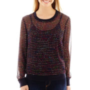 Liz Claiborne® Long-Sleeve Woven Top