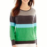 Liz Claiborne® Long-Sleeve Boxy Sweater
