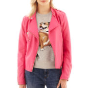 I 'Heart' Ronson® Faux-Leather Moto Jacket