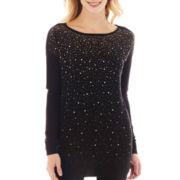 Worthington® Long-Sleeve Embellished Tunic Top - Tall