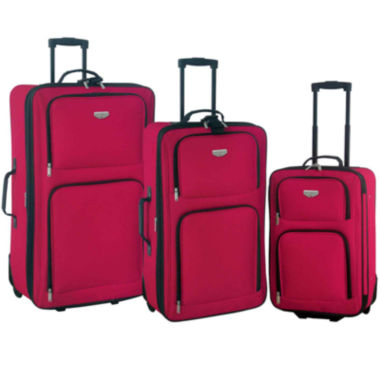 jcpenney.com | Travelers Club Eva 3-pc. Value Luggage Set
