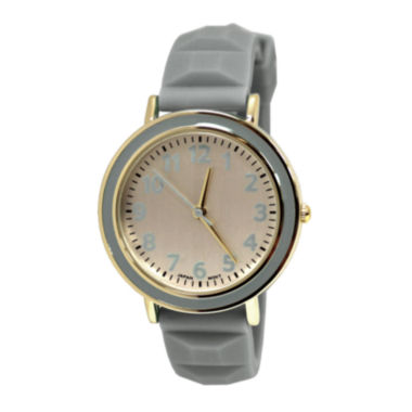 jcpenney.com | Gray Pyramid Strap Womens Watch