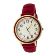 Red Pyramid Strap Womens Watch