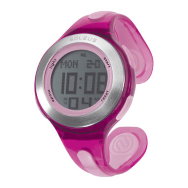 jcpenney.com | Soleus Swift Womens Pink Bangle Digital Sport Watch