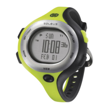 jcpenney.com | Soleus Chicked Womens Green and Black Digital Running Watch