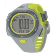 Soleus PR Mens Gray and Lime Strap Running Digital Sport Watch