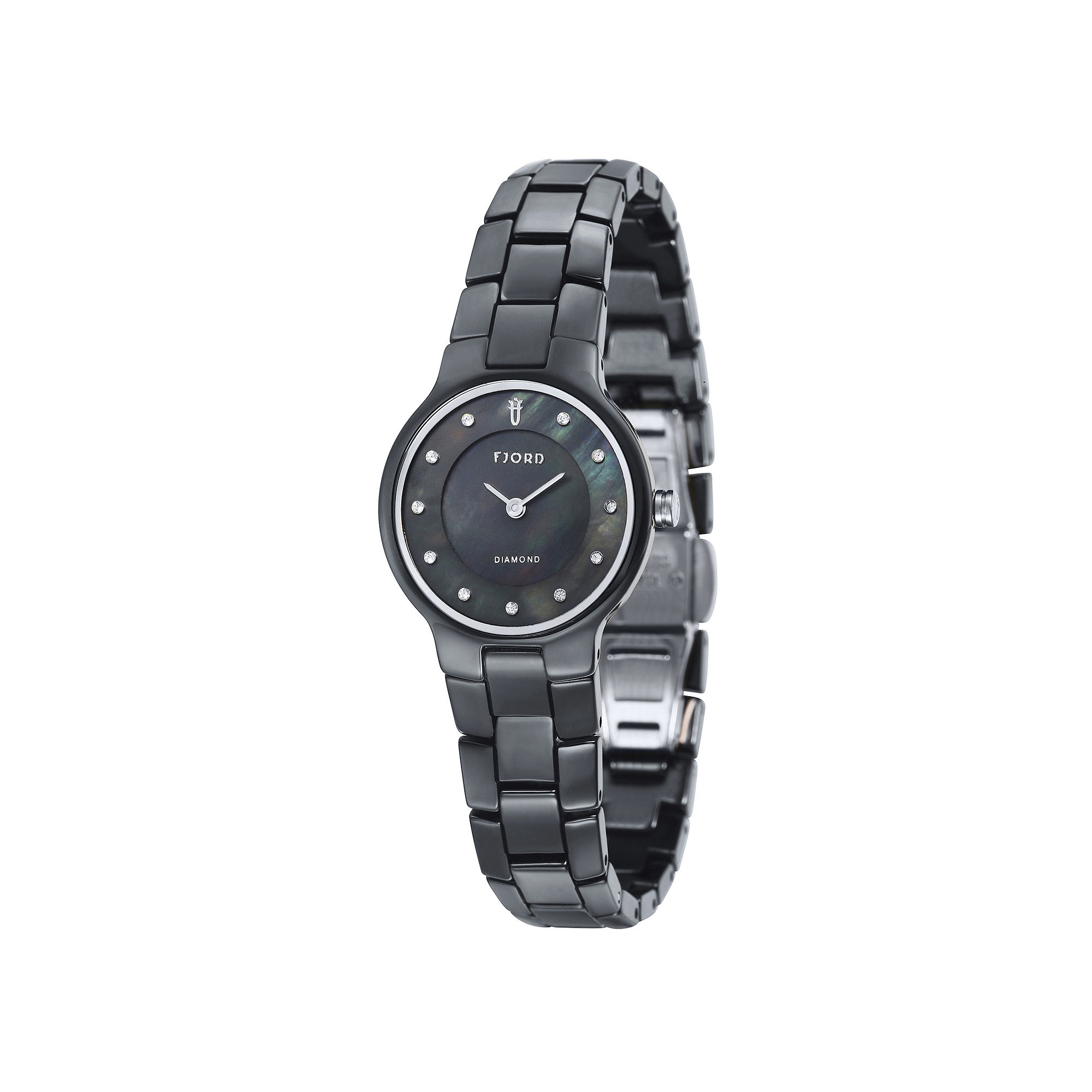 Fjord Ladies Black Alida Bracelet Watch