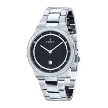 jcpenney.com | Fjord Mens Stainless Steel Black Thord Bracelet Watch