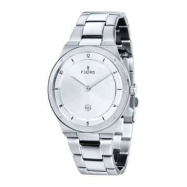 jcpenney.com | Fjord Mens Stainless Steel White Thord Bracelet Watch