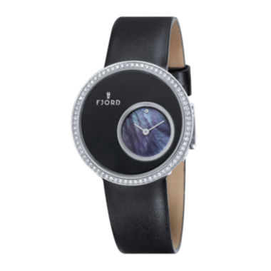jcpenney.com | Fjord Womens Black Helga Strap Watch