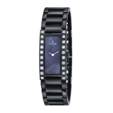 jcpenney.com | Fjord Womens Black Aasa Bracelet Watch