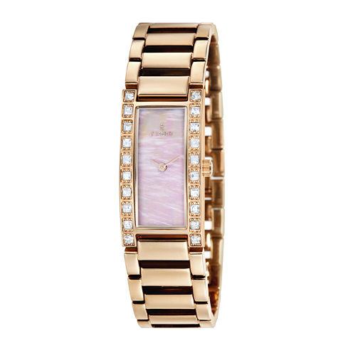Fjord Aasa Womens Rose-Tone Bracelet Watch