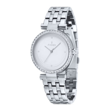 jcpenney.com | Fjord Niklaas Womens Stainless Steel White Bracelet Watch