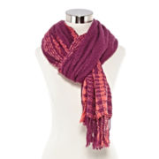 Oblong Scarf with Fringe