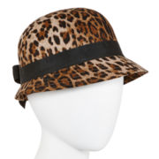 Scala™ Animal-Print Cloche Hat