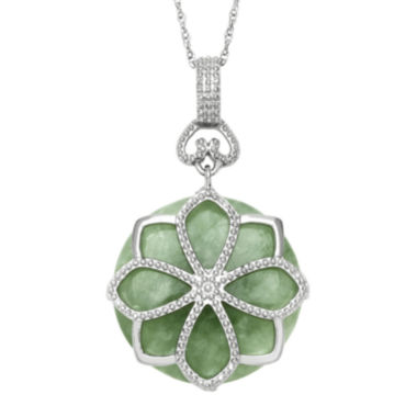 jcpenney.com | Green Jade Sterling Silver Pendant Necklace