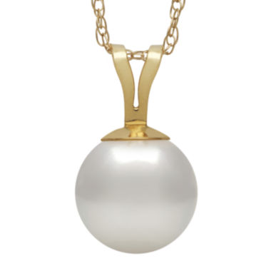 jcpenney.com | 14K Yellow Gold Akoya Pearl Pendant Necklace