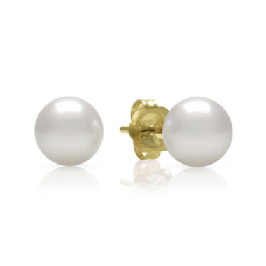 jcpenney.com | 14K Yellow Gold Akoya Pearl Earrings