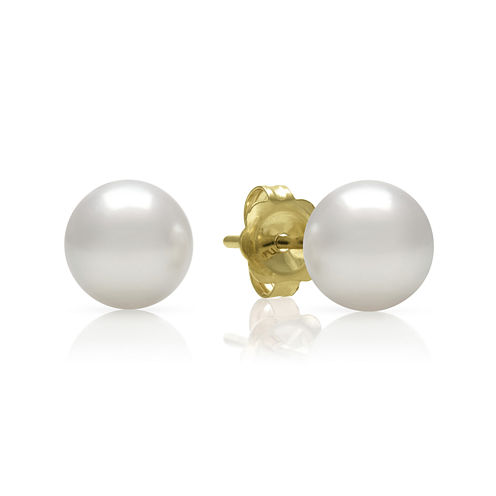 14K Yellow Gold Akoya Pearl Earrings
