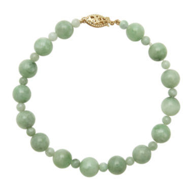 jcpenney.com | Green Jade 14K Yellow Gold Bracelet