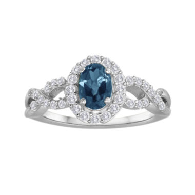 jcpenney.com | Genuine Blue Topaz and Lab-Created White Sapphire Ring