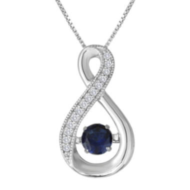 jcpenney.com | Love in Motion™ Lab-Created Blue and White Sapphire Pendant Necklace