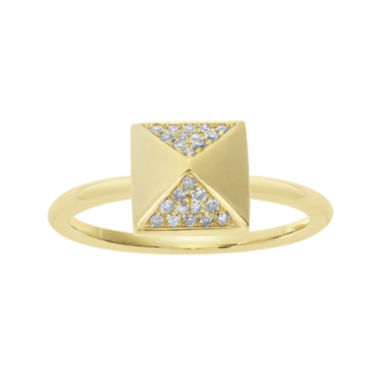 jcpenney.com | 1/10 CT. T.W. Diamond 10K Yellow Gold Pyramid Ring