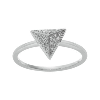 jcpenney.com | Diamond-Accent 10K White Gold Pyramid Ring