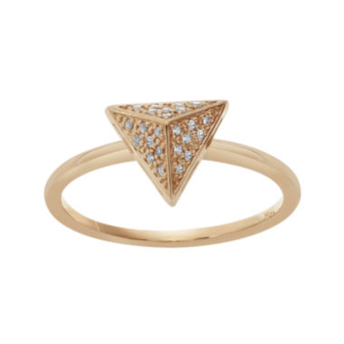 jcpenney.com | Diamond-Accent 10K Rose Gold Pyramid Ring