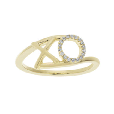 jcpenney.com | 1/10 CT. T.W. Diamond 10K Yellow Gold X and O Bypass Ring