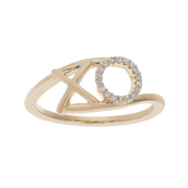jcpenney.com | 1/10 CT. T.W. Diamond 10K Rose Gold X and O Bypass Ring