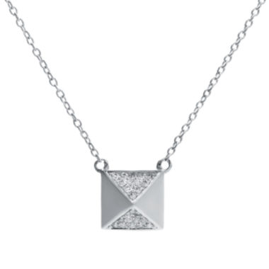 jcpenney.com | 1/10 CT. T.W. Diamond 10K White Gold Pyramid Necklace