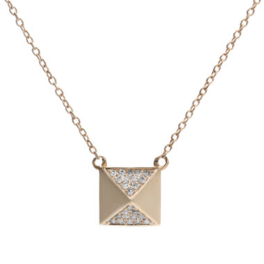jcpenney.com | 10 CT. T.W. Diamond 10K Rose Gold Pyramid Necklace