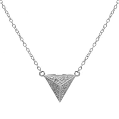 jcpenney.com | Diamond-Accent 10K White Gold Pyramid Necklace