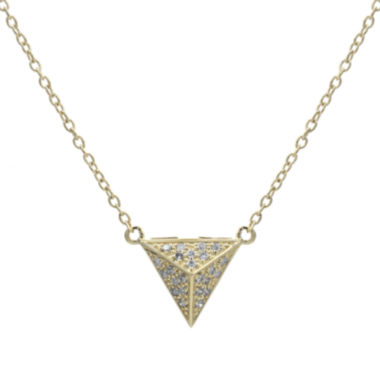 jcpenney.com | Diamond-Accent 10K Yellow Gold Pyramid Necklace