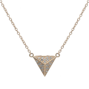 jcpenney.com | Diamond-Accent 10K Rose Gold Pyramid Necklace
