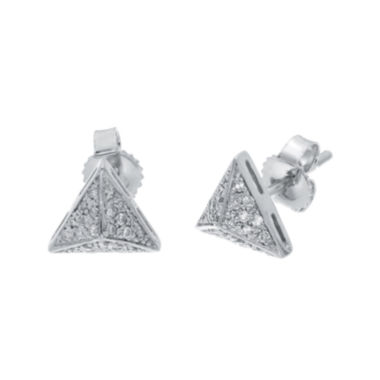 jcpenney.com | 1/10 CT. T.W. Diamond 10K White Gold Pyramid Earrings