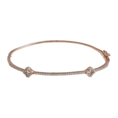 jcpenney.com | 1/4 CT. T.W. Diamond 14K Rose Gold Bangle Bracelet
