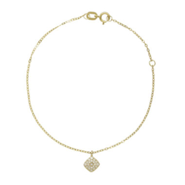jcpenney.com | 1/10 CT. T.W. Diamond 10K Yellow Gold Diamond Bracelet