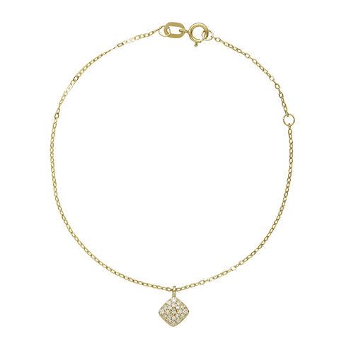 1/10 CT. T.W. Diamond 10K Yellow Gold Diamond Bracelet