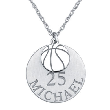 jcpenney.com | Personalized Basketball 20mm Pendant Necklace