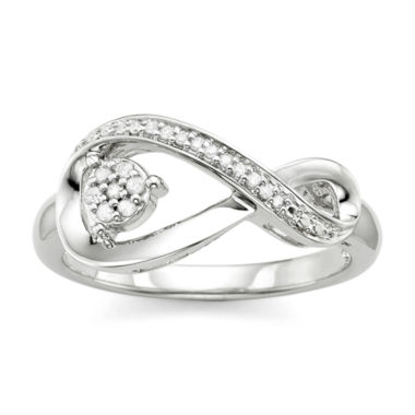 jcpenney.com | Infinite Promise 1/10 CT. T.W. Diamond Sterling Silver Ring