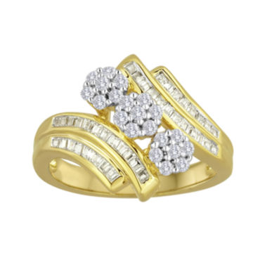 jcpenney.com | Diamond blossom 1/2 CT. T.W. Diamond Bypass Ring