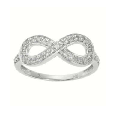 jcpenney.com | 1/3 CT. T.W. Diamond Sterling Silver Infinity Ring