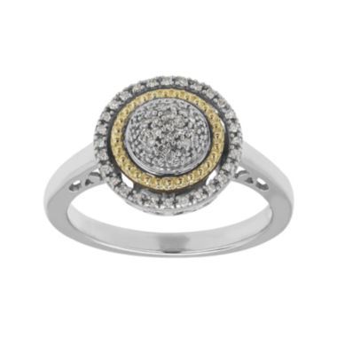 jcpenney.com | 1/8 CT. T.W. Diamond Sterling Silver and 14K Yellow Gold Ring