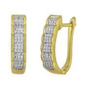 1/10 CT. T.W. Diamond Hoop Earrings