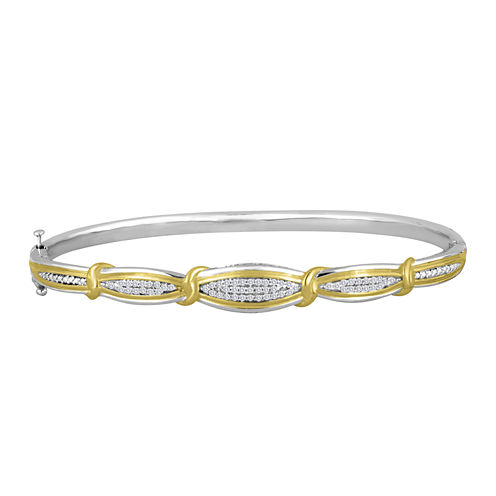 1/4  CT. T.W. 14K Yellow Gold Over Sterling Silver Bracelet