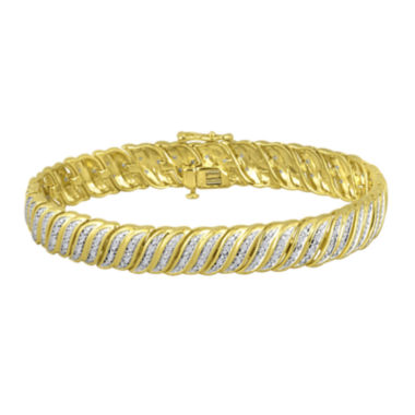 jcpenney.com | 1/4 CT. T.W. Diamond 14K Gold Over Sterling Silver Bracelet