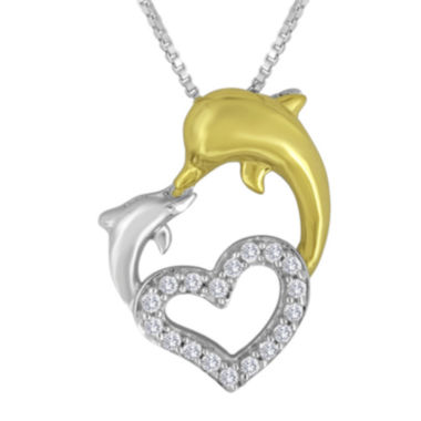 jcpenney.com | 1/10 CT. T.W. Diamond Heart-Shaped Pendant Necklace