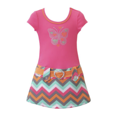 jcpenney.com | Lilt Chevron Butterfly Marsha Dress - Toddler Girls 2t-4t